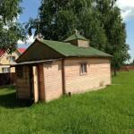 Временная деревянная церковь на месте храма, 13-07-2013 Ее путь: Nickulino - Filatovo  - Savelievo